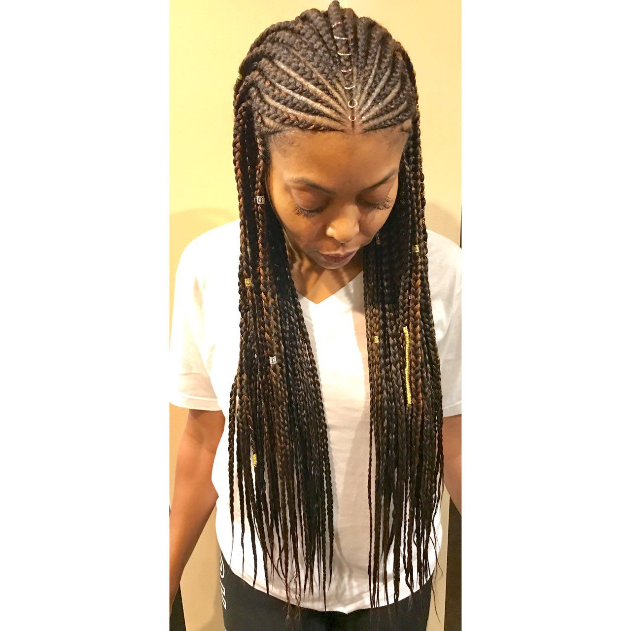 2019 Back And Forth Skinny Braided Hairstyles Pertaining To Easy How To Do Box Braids, Stepstep (View 3 of 20)