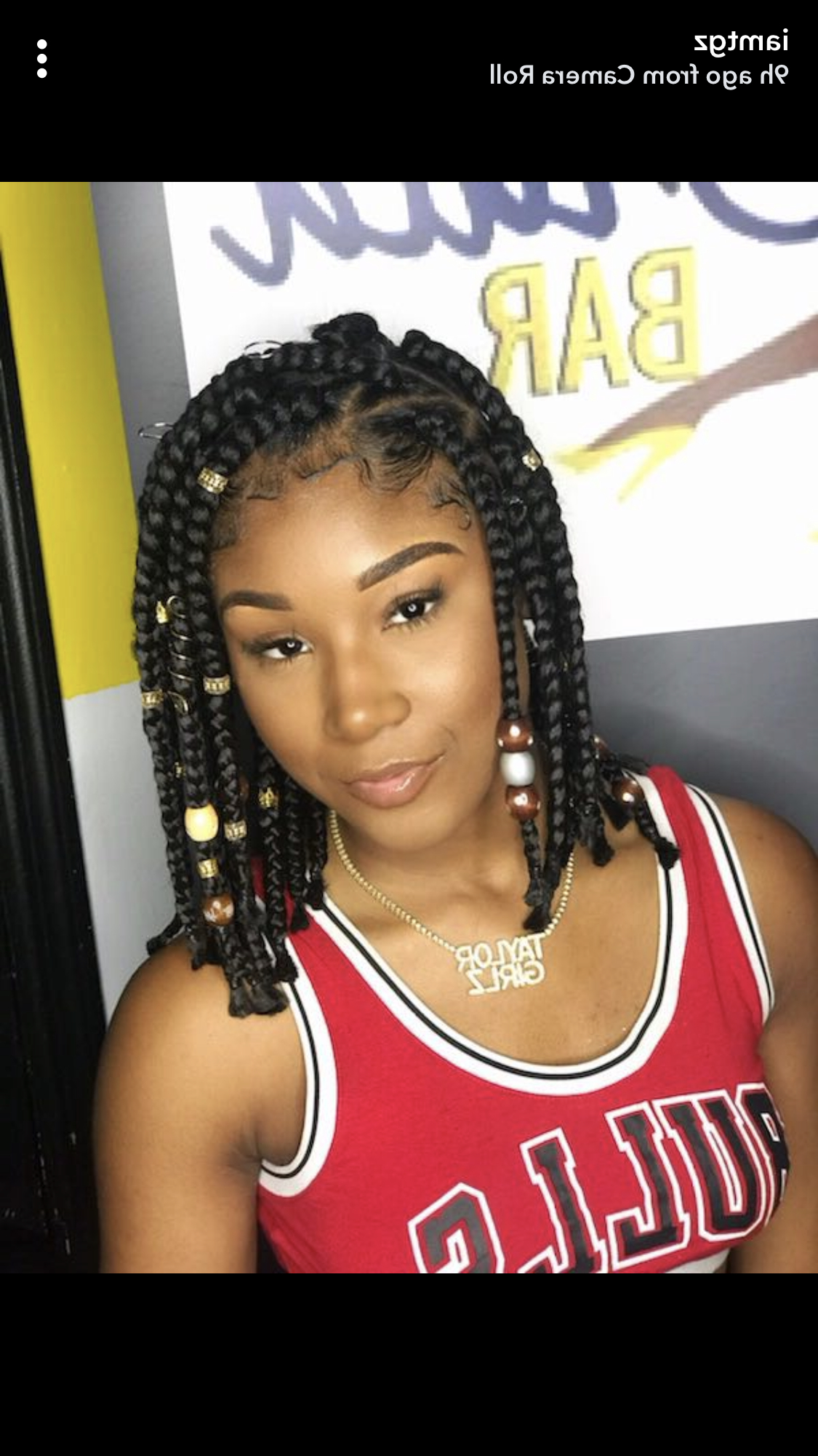2019 Box Braids And Beads Hairstyles Inside Pin On Hair & Beauty (View 8 of 20)