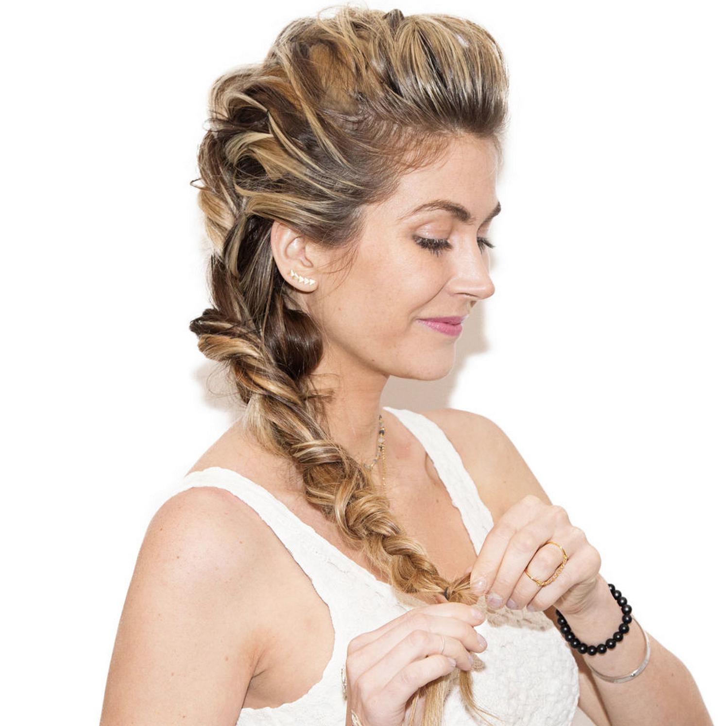 2019 Braids And Bouffant Hairstyles Regarding How To: Khaleesi Braid (View 6 of 20)