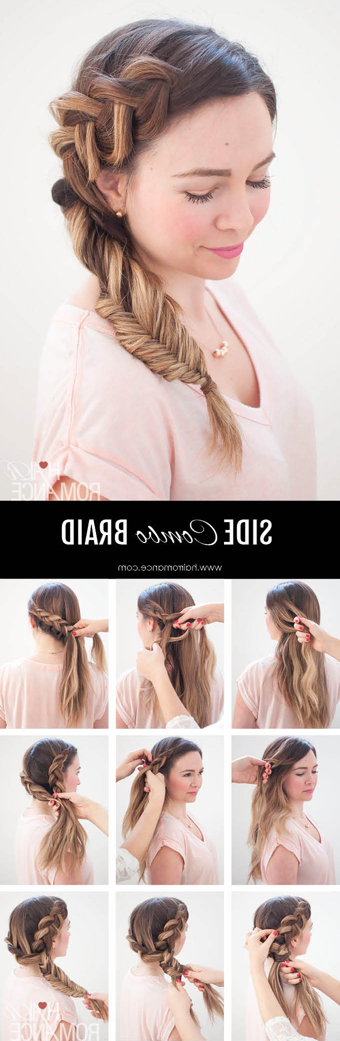 2019 Fishtail Side Braided Hairstyles For Dream Hair – Combo Dutch – Fishtail Side Braid Tutorial (View 14 of 20)