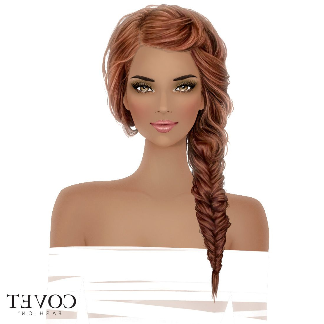 2019 Fishtail Side Braided Hairstyles Intended For Covet Fashion (View 15 of 20)