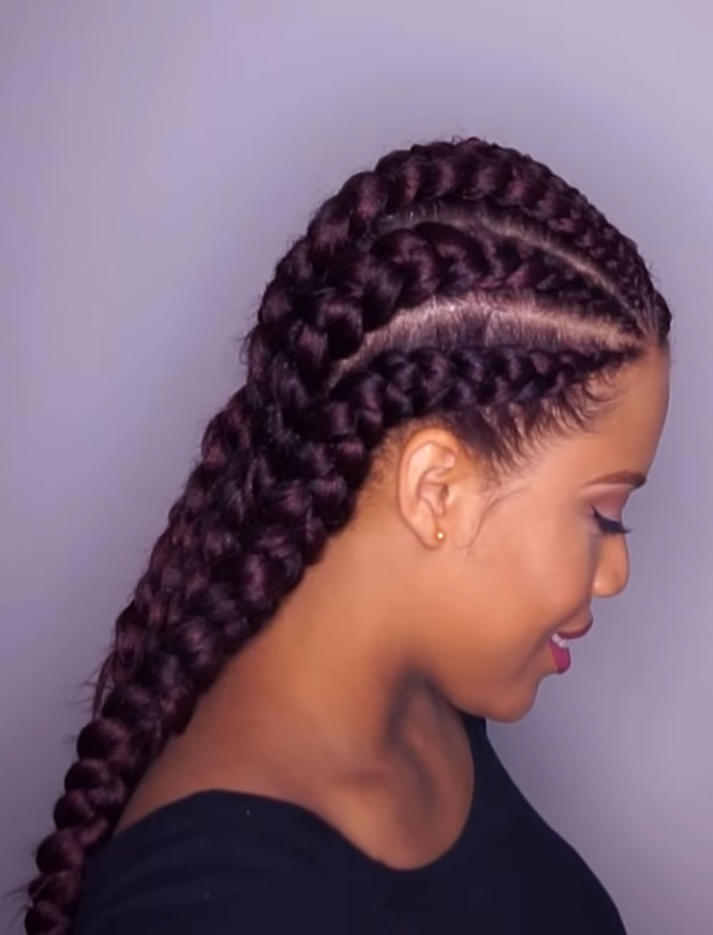 2019 Ghana Braids Hairstyles For Black Women – Page 2 With Newest Thick Cornrows Braided Hairstyles (View 3 of 20)