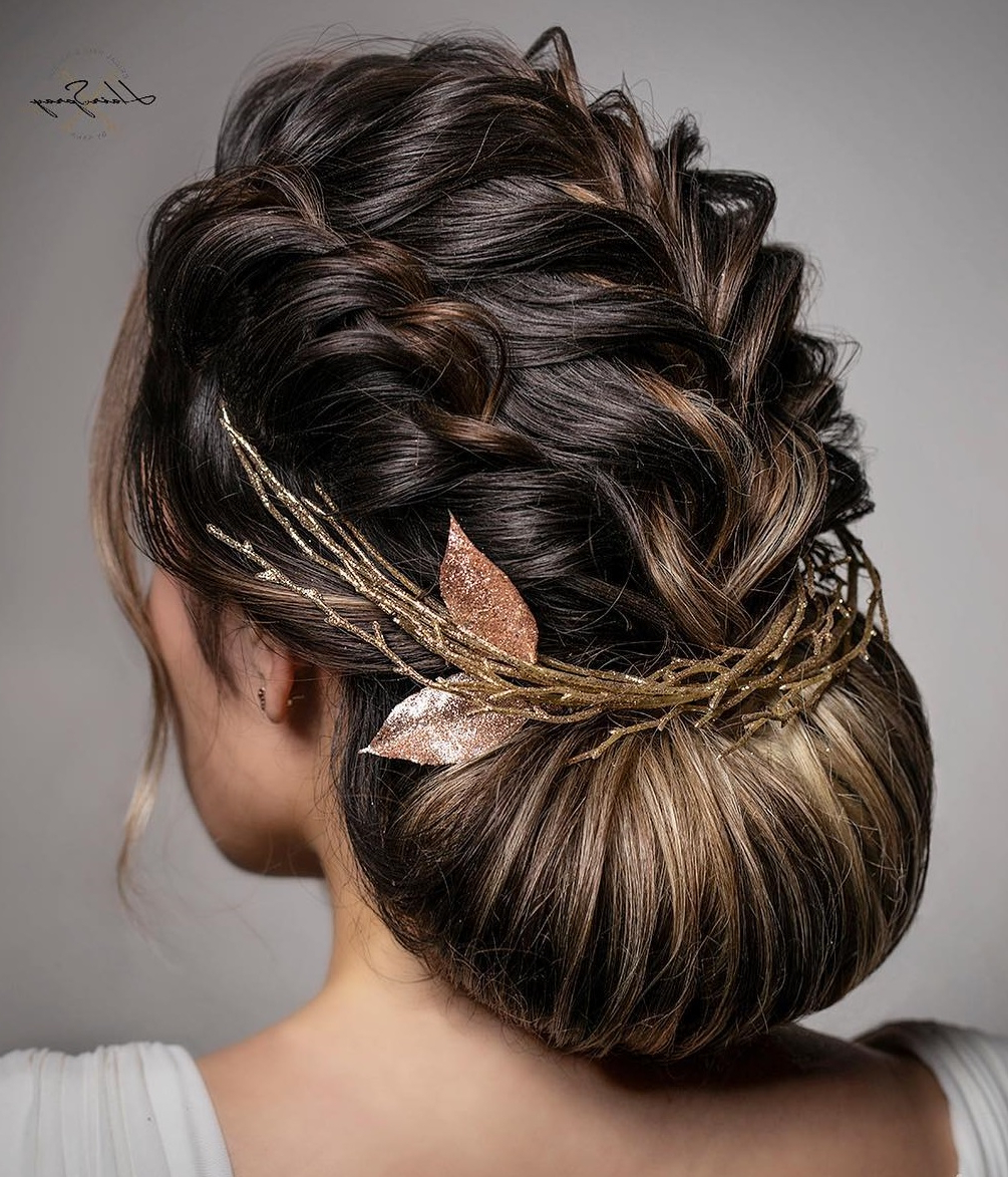 2019 Halo Braided Hairstyles With Long Tendrils Pertaining To 30 Picture Perfect Updos For Long Hair Everyone Will Adore (View 19 of 20)