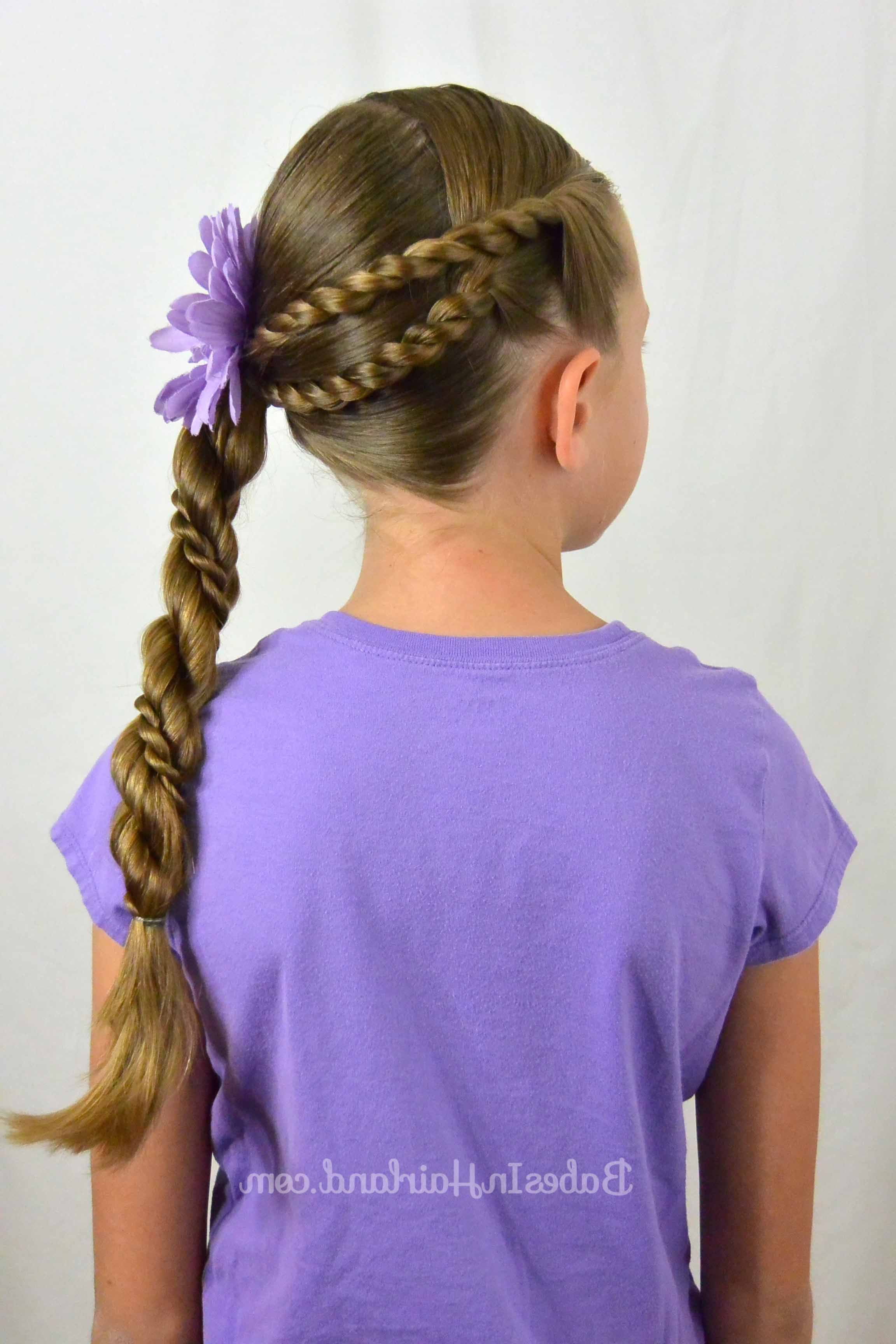 2019 Intricate Rope Braid Ponytail Hairstyles Regarding Rope Braids And Twisted Ponytail (View 2 of 20)