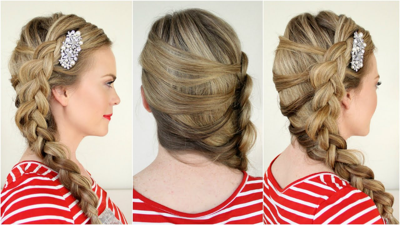 2019 Mermaid Crown Braid Hairstyles Regarding Mermaid Side Dutch Braid (View 10 of 20)
