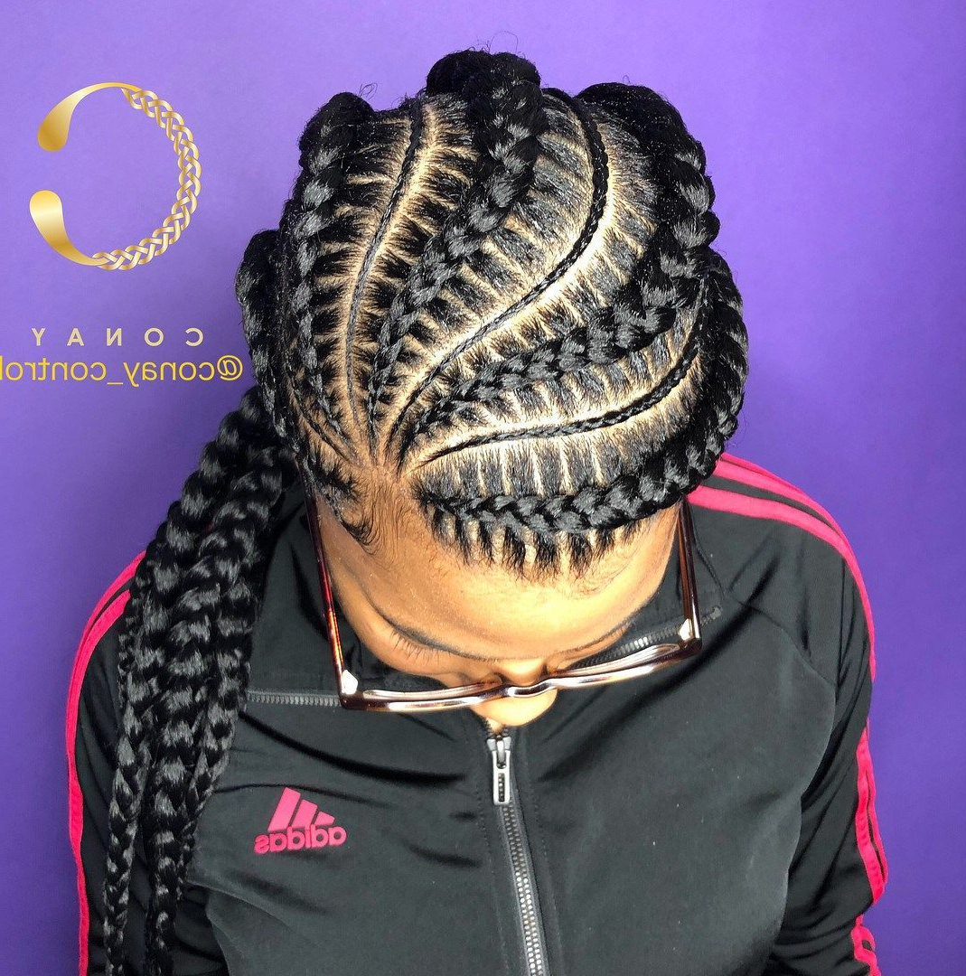 Featured Photo of Thin And Thick Cornrows Under Braid Hairstyles
