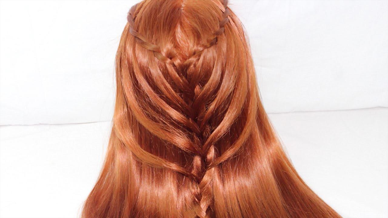 2019 Waterfall Mermaid Braid Hairstyles Inside Waterfall Twists Into Mermaid Braid (View 3 of 20)