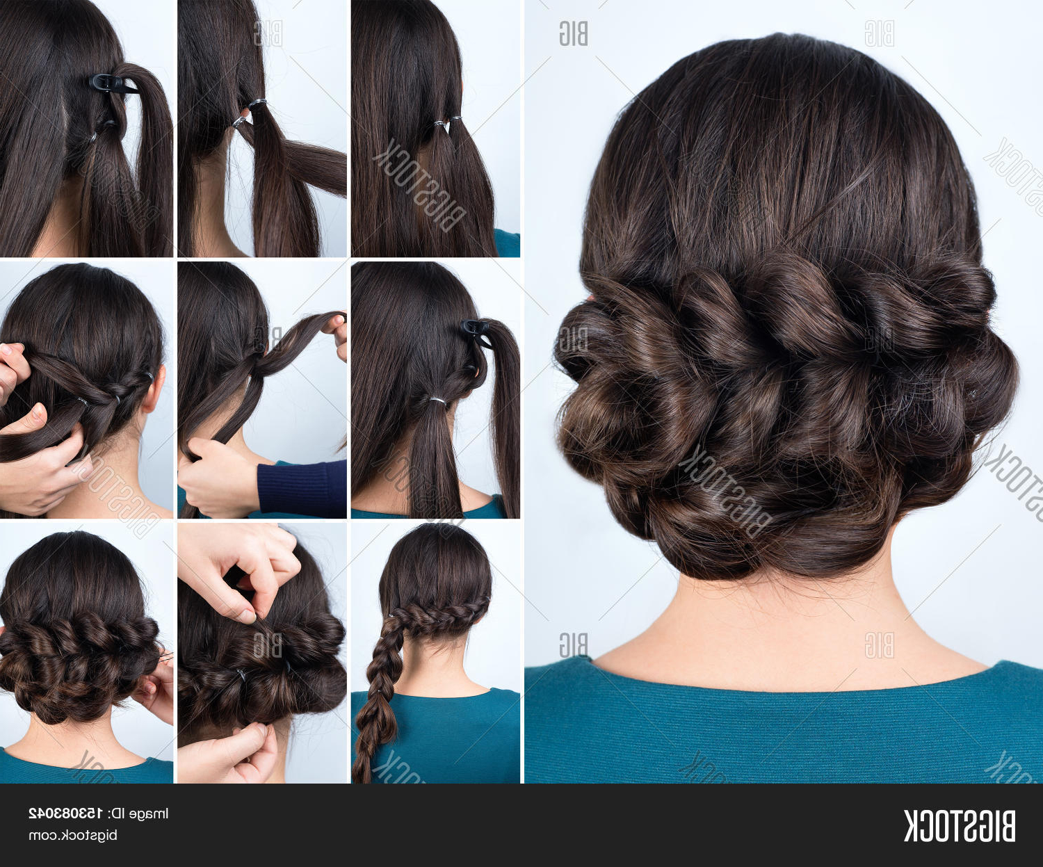 2020 Braided Chignon Hairstyles With Regard To Imagen Y Foto Hair Tutorial (View 7 of 20)