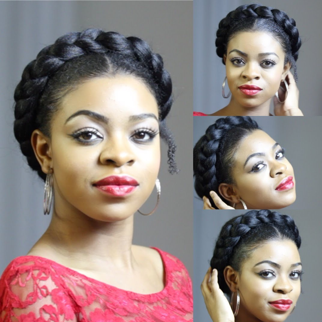 [%2020 Faux Halo Braided Hairstyles For Short Hair In Faux Goddess Braid On Natural Hair [video] – Black Hair|faux Goddess Braid On Natural Hair [video] – Black Hair Regarding Most Current Faux Halo Braided Hairstyles For Short Hair%] (View 8 of 20)