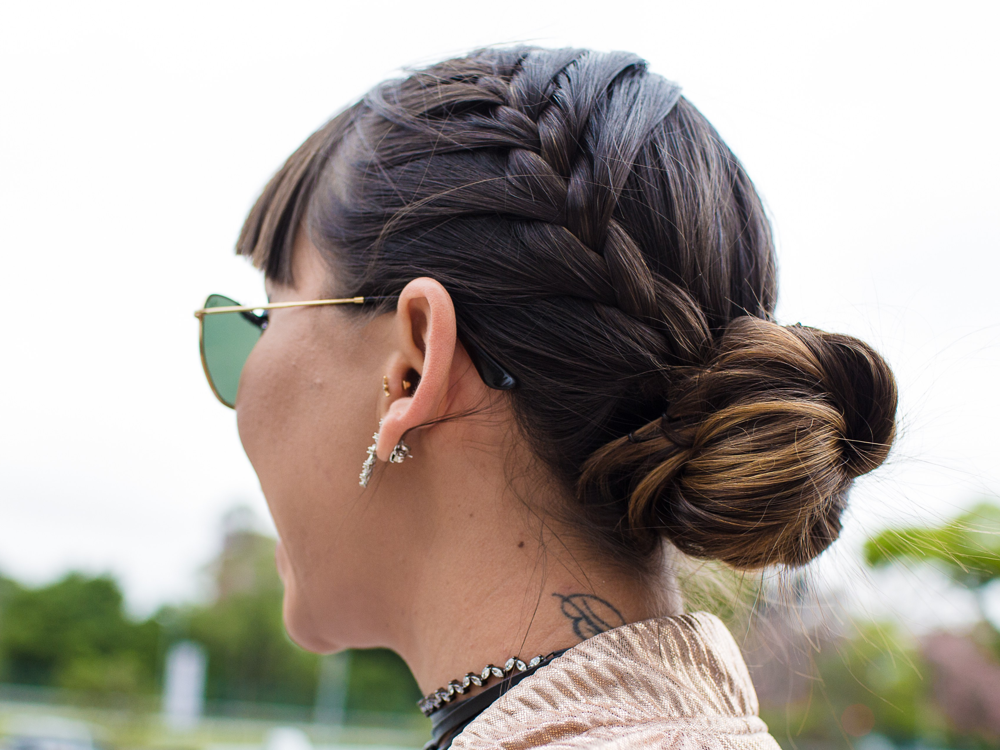 2020 French Braid Low Chignon Hairstyles Pertaining To How To Braid Hair – 10 Tutorials You Can Do Yourself (View 3 of 20)