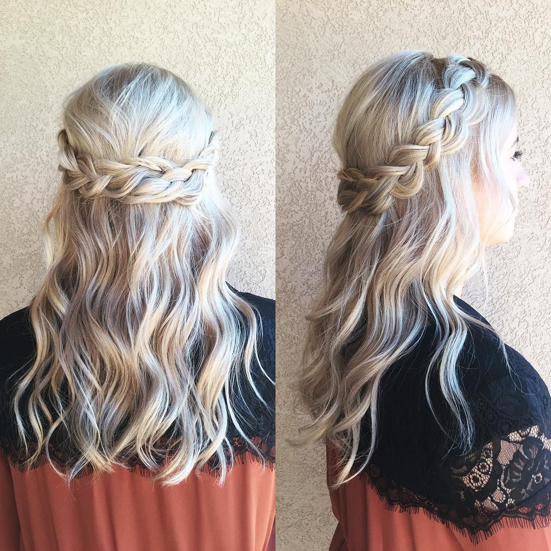 2020 Half Up, Half Down Braid Hairstyles Within Braided Half Up Half Down Wedding Hair ~ We ❤ This (View 5 of 20)