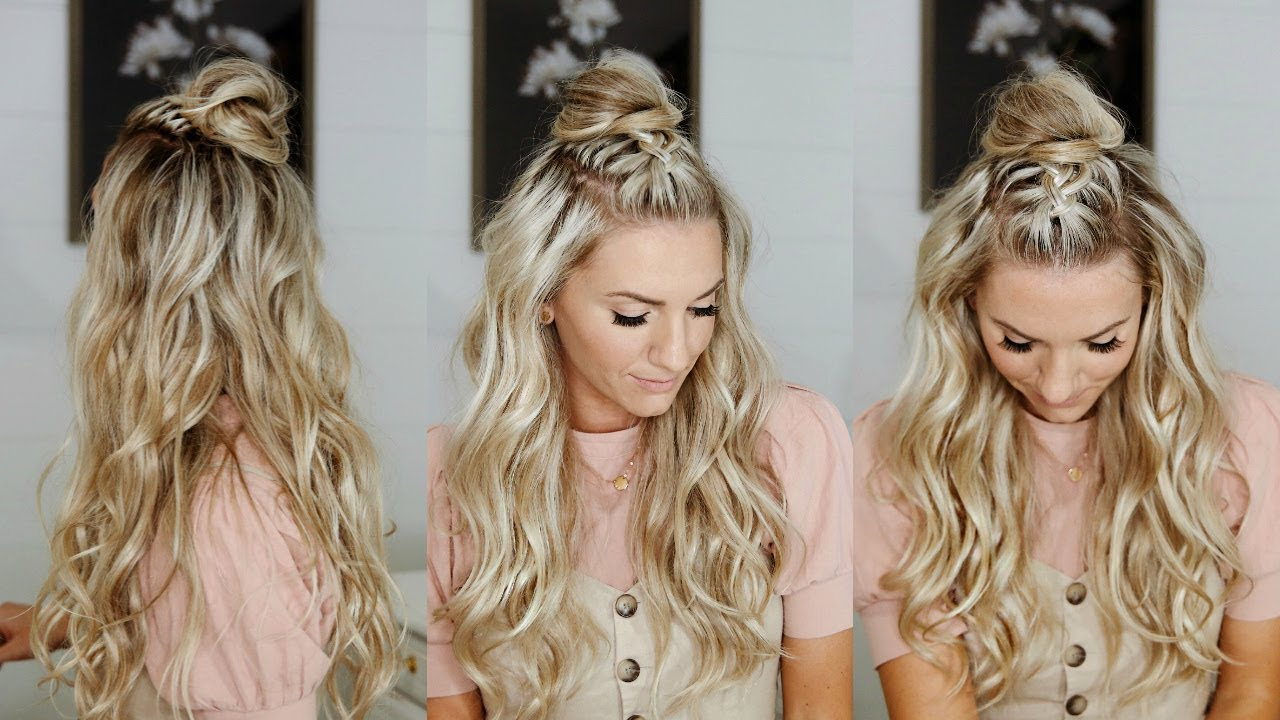 Featured Photo of Half Up Top Knot Braid Hairstyles
