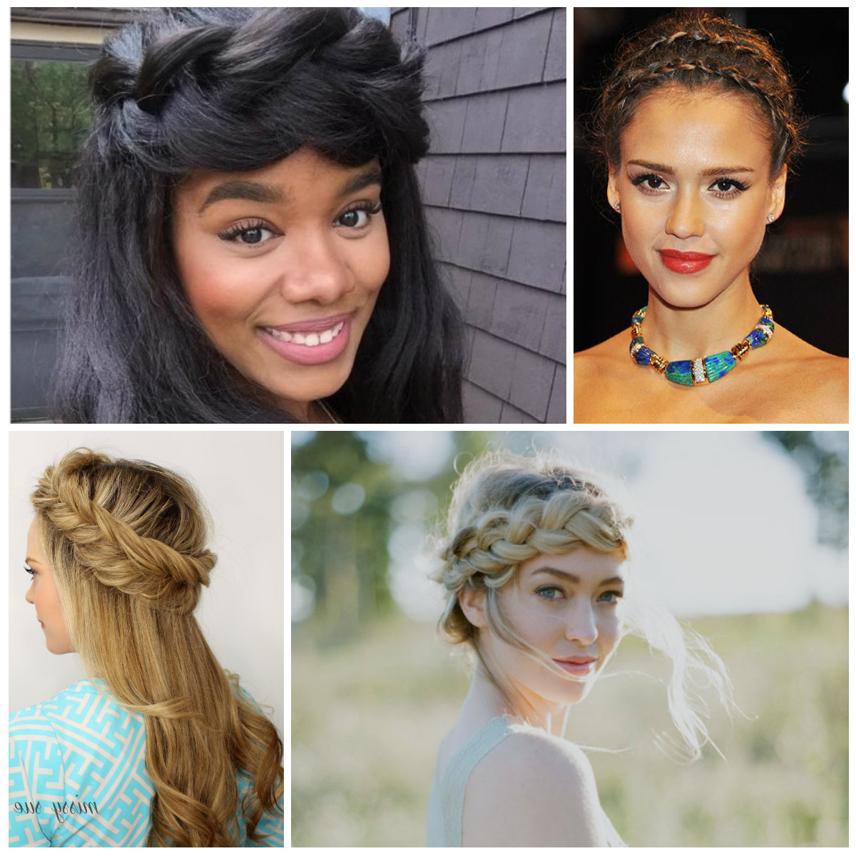 2020 Halo Braided Hairstyles With Long Tendrils For Angelic Halo Braids For Women For (View 4 of 20)