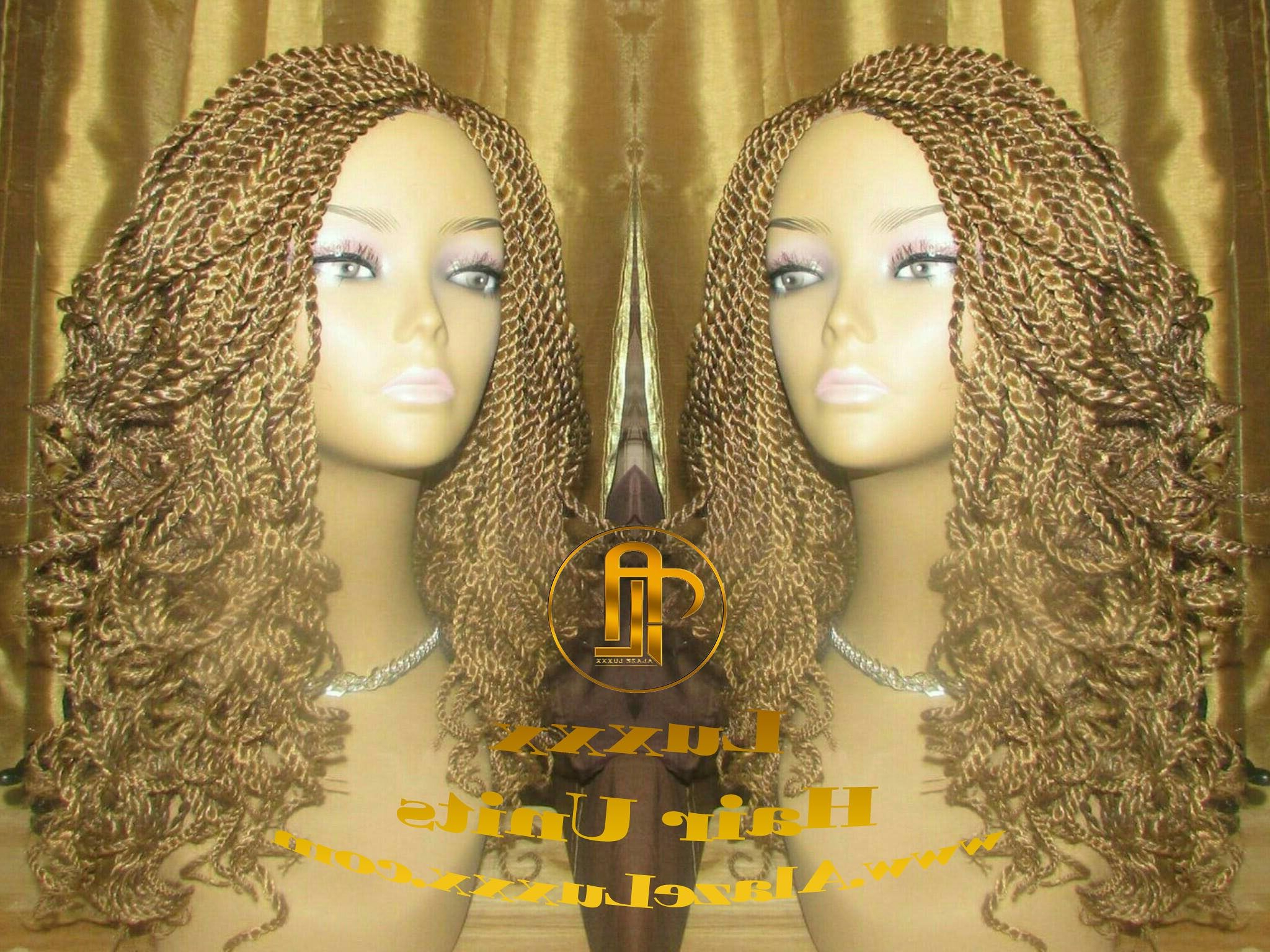 2020 Mermaid'S Hairpiece Braid Hairstyles Intended For 14' Blonde Auburn 27 30 Curly Senegalese Twist Wig Unit! Alopecia Natural  Hair Kinky Marley Crochet Twist Box Braid Braided Faux Loc Dred C (View 4 of 20)