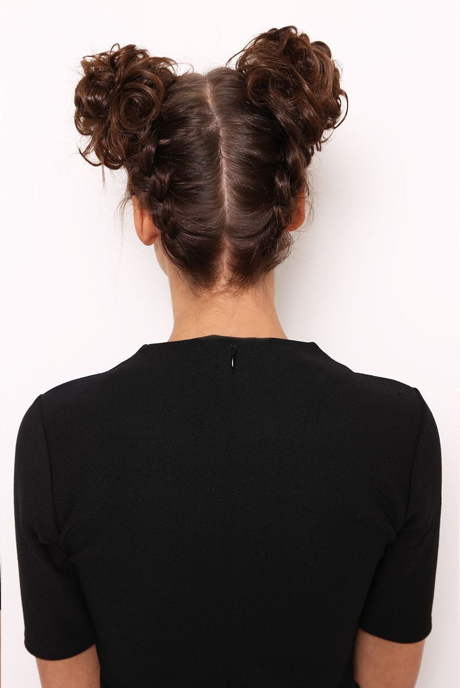 2020 Mini Buns Hairstyles With Regard To Space Buns – Lullabellz (View 1 of 20)