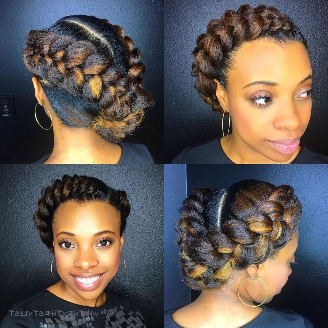 2020 Natural Protective Bun Micro Braid Hairstyles In 60 Easy And Showy Protective Hairstyles For Natural Hair (View 2 of 20)