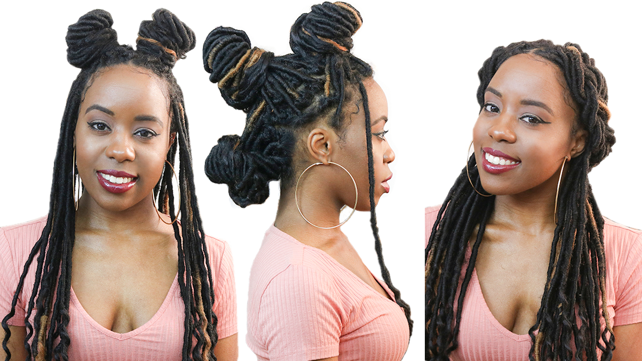 2020 No Pin Halo Braided Hairstyles In 25 Quick And Easy Faux Locs And Box Braids Hairstyles (View 16 of 20)