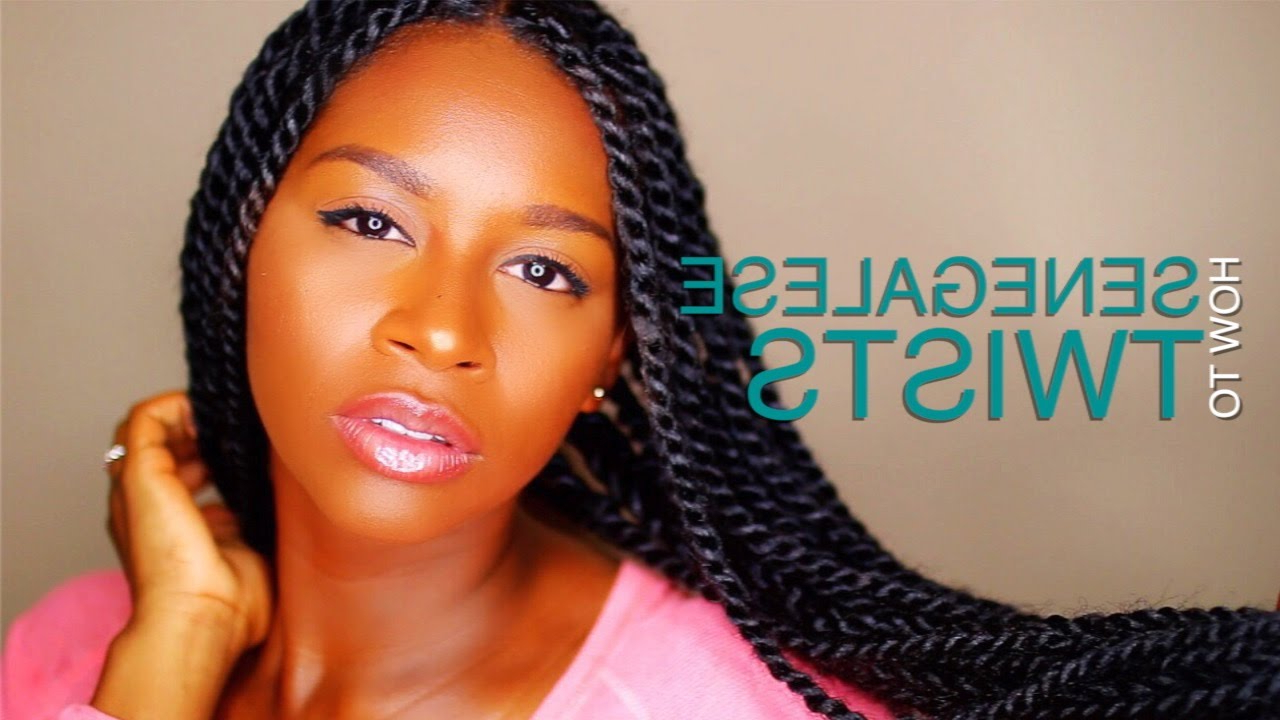 2020 Pastel Colored Updo Hairstyles With Rope Twist Throughout 55 Of The Best Senegalese Twist Hairstyles (September (View 3 of 20)