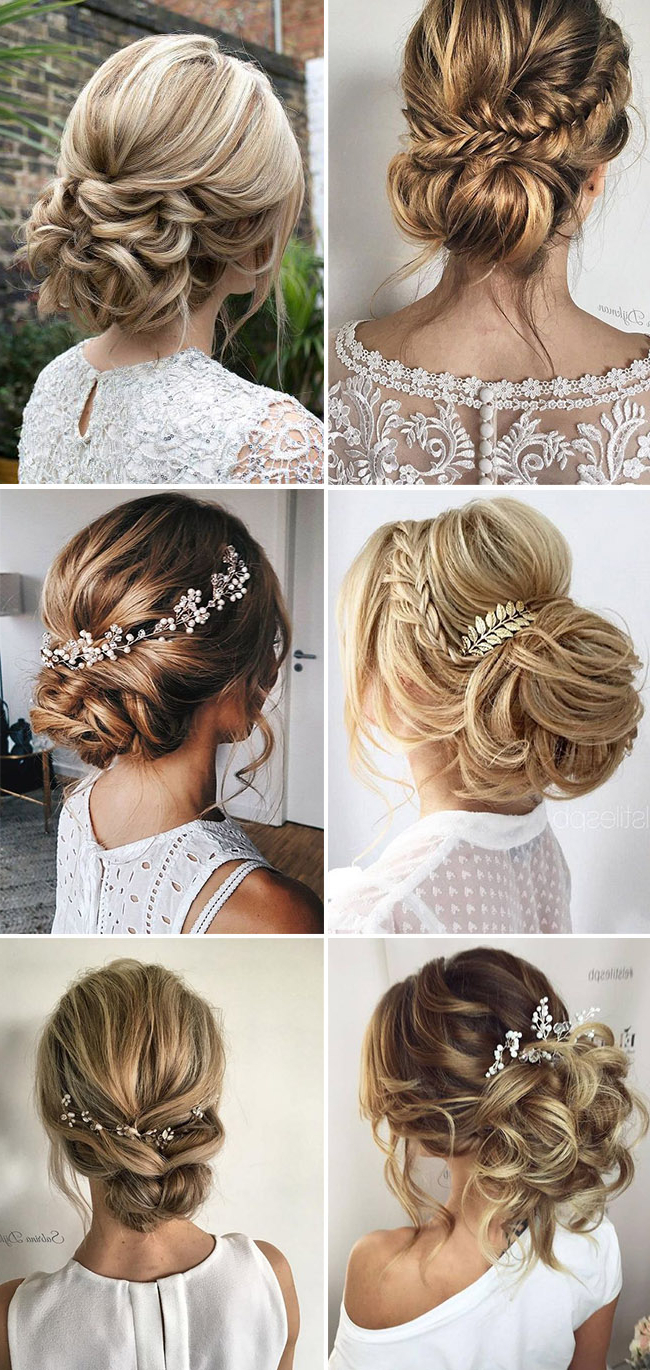 2020 Pearl Bun Updo Hairstyles With Regard To 31 Drop Dead Wedding Hairstyles For All Brides (View 3 of 20)