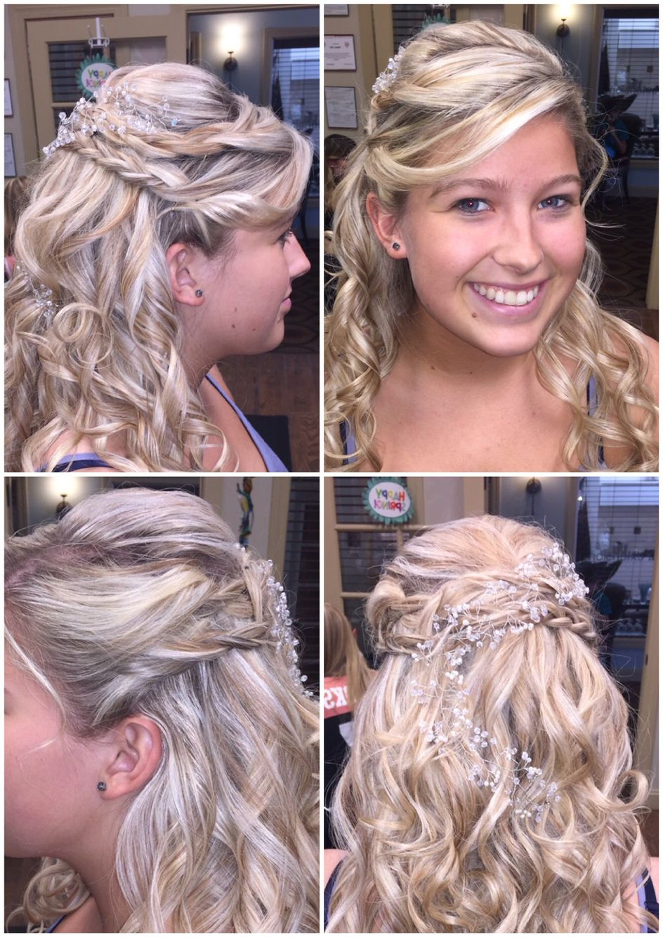 2020 Pinned Back Side Hairstyles Throughout Prom Half Up Dobraided Sides Pinned Back With Spiral (View 7 of 20)