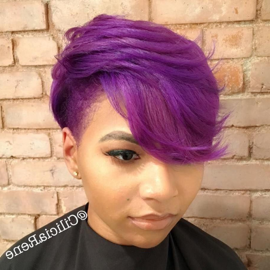 2020 Purple Pixies Bob Braid Hairstyles Within 50 Most Captivating African American Short Hairstyles (View 5 of 20)