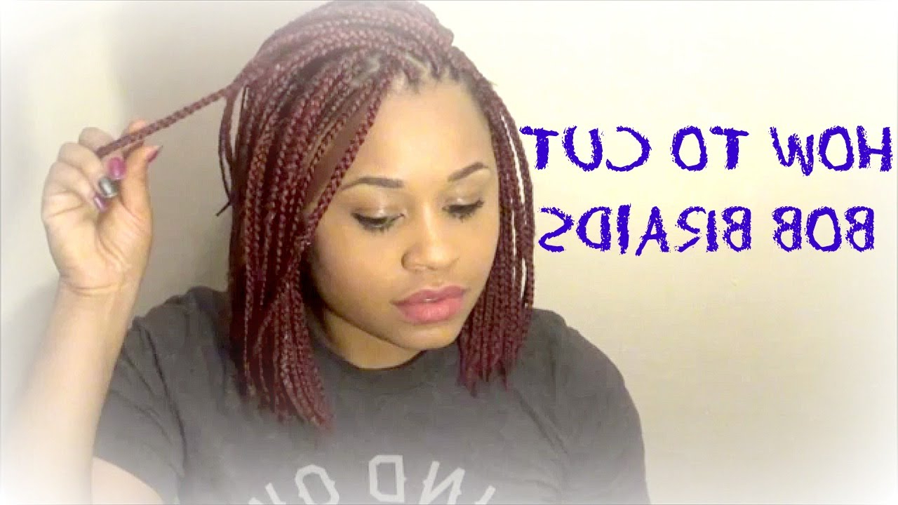 2020 Red Inward Under Braid Hairstyles In How To Cut Bob Braids: Red Bob Braids (View 2 of 20)