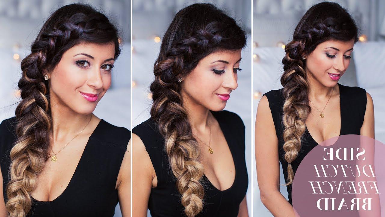 2020 Side Dutch Braided Hairstyles Inside Side Dutch Braid Hair Tutorial (View 2 of 20)