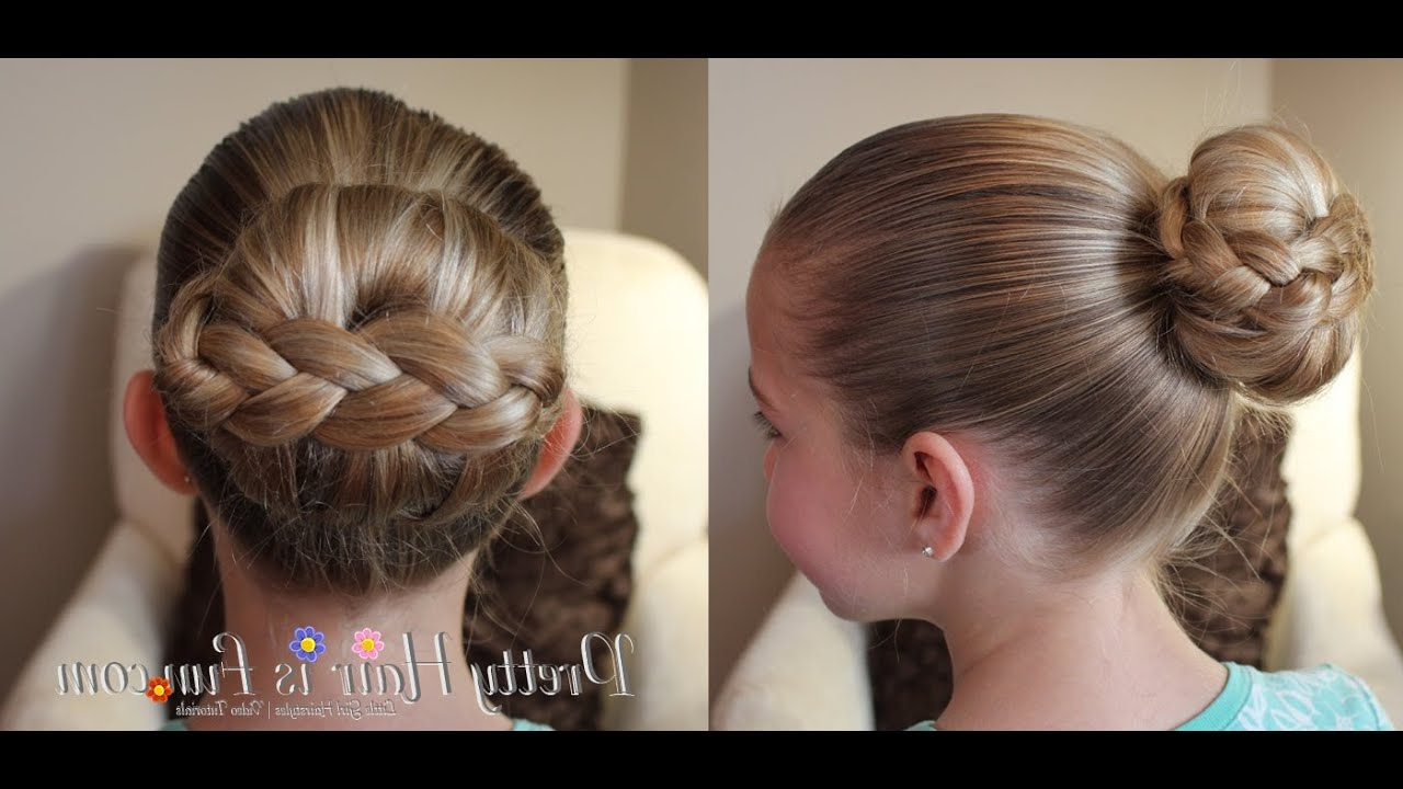 2020 Stacked Buns Updo Hairstyles Regarding How To: Braided Stacked Hair Bun Tutorial (View 10 of 20)