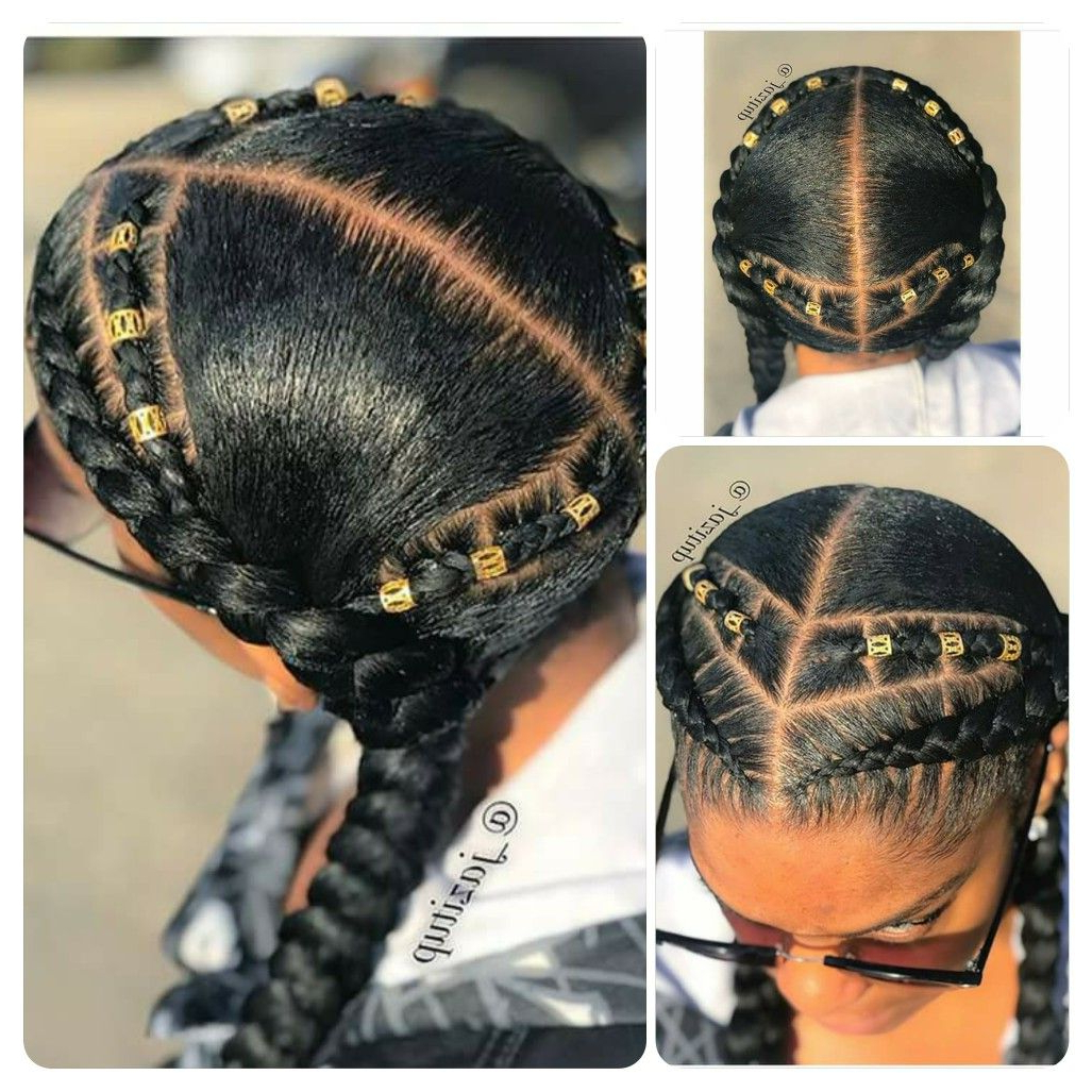 2020 Tight Black Swirling Under Braid Hairstyles Within Minus The Extra In The Back (View 7 of 20)