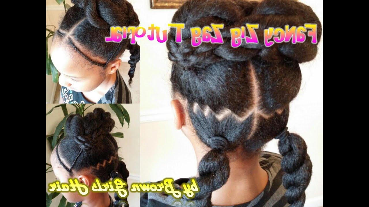 2020 Zig Zag Ponytail Updo Hairstyles With Regard To Fancy Zig Zag Ponytails Tutorial (View 3 of 20)
