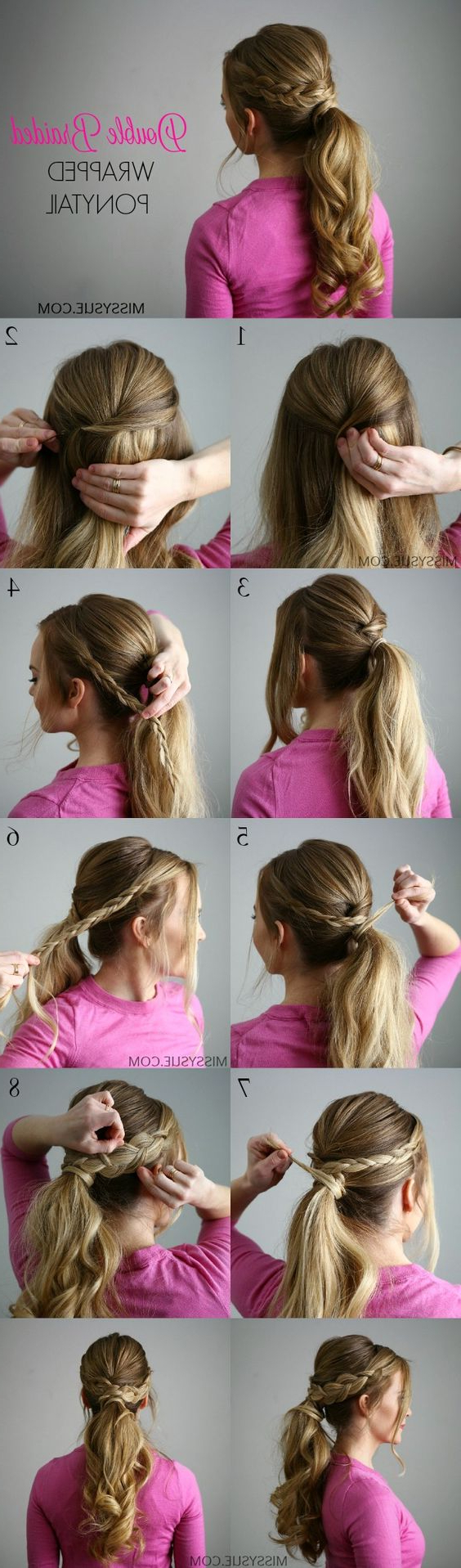 21 Tutorials For Styling Wrap Around Braids – Pretty Designs For Best And Newest Wrapped Ponytail Braid Hairstyles (View 8 of 20)