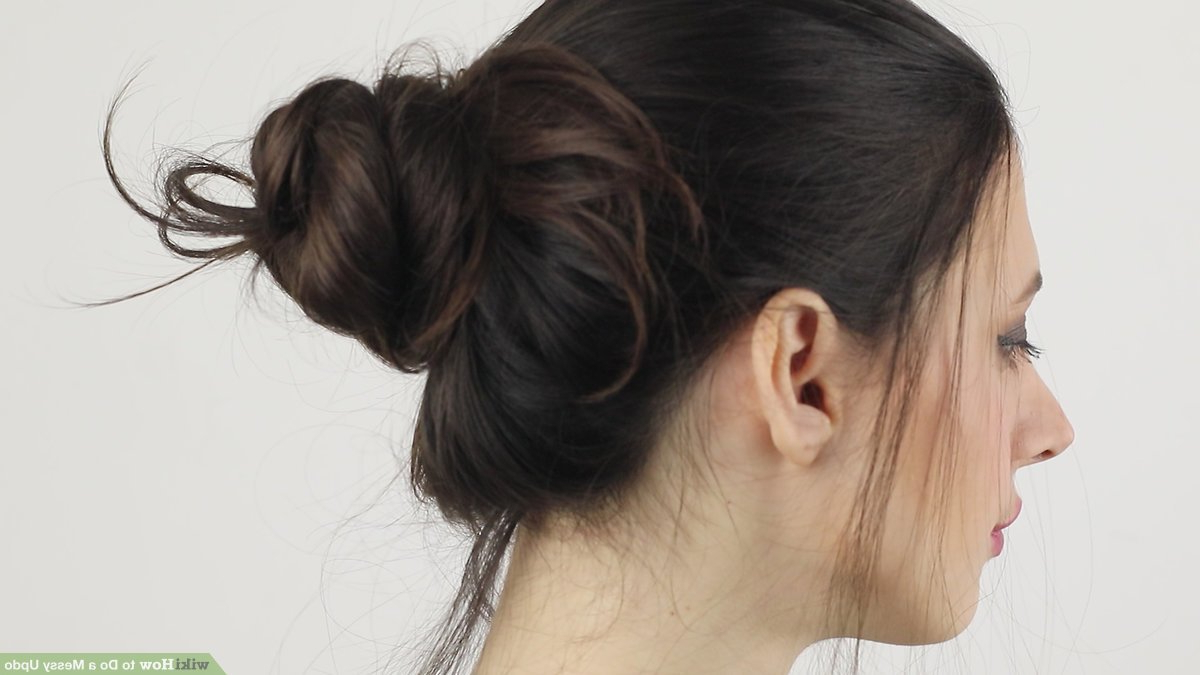 24 Step By Step Videos: How To Do A Messy Updo (View 17 of 20)