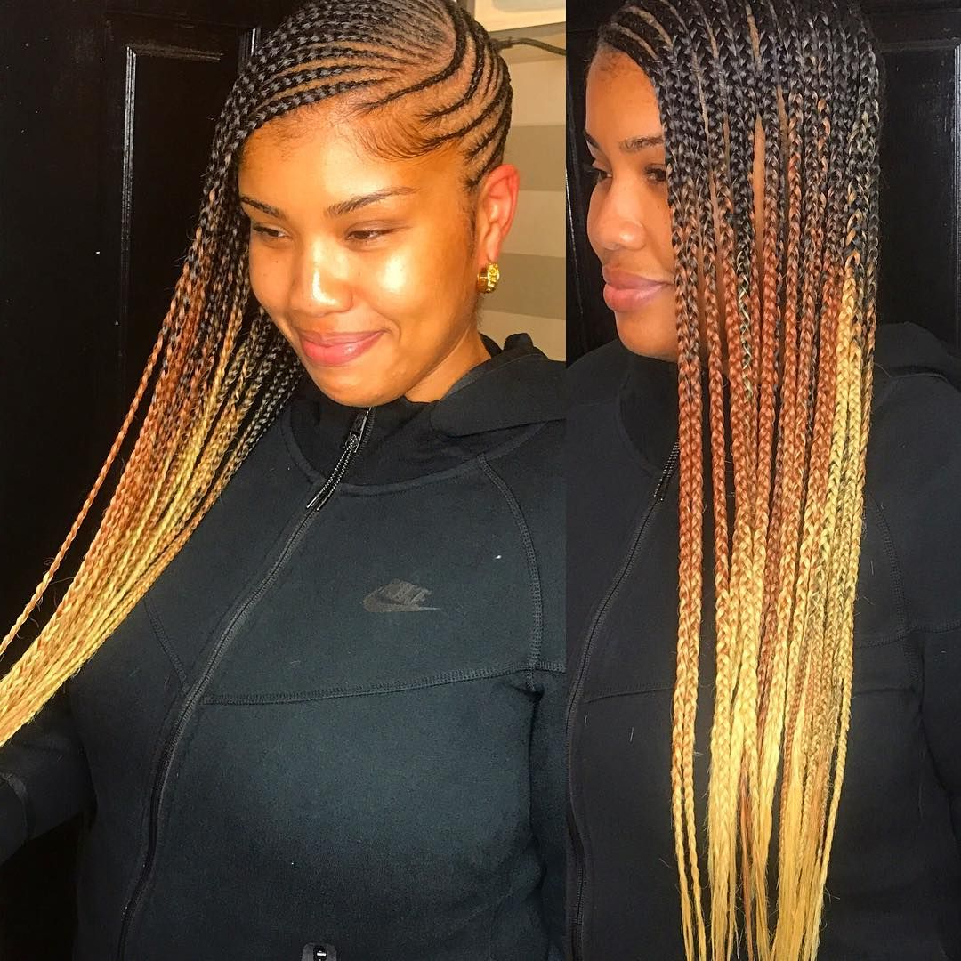 25 Charming Lemonade Braids To Rock Your Appearance With Regard To Current Geometric Blonde Cornrows Braided Hairstyles (View 2 of 20)