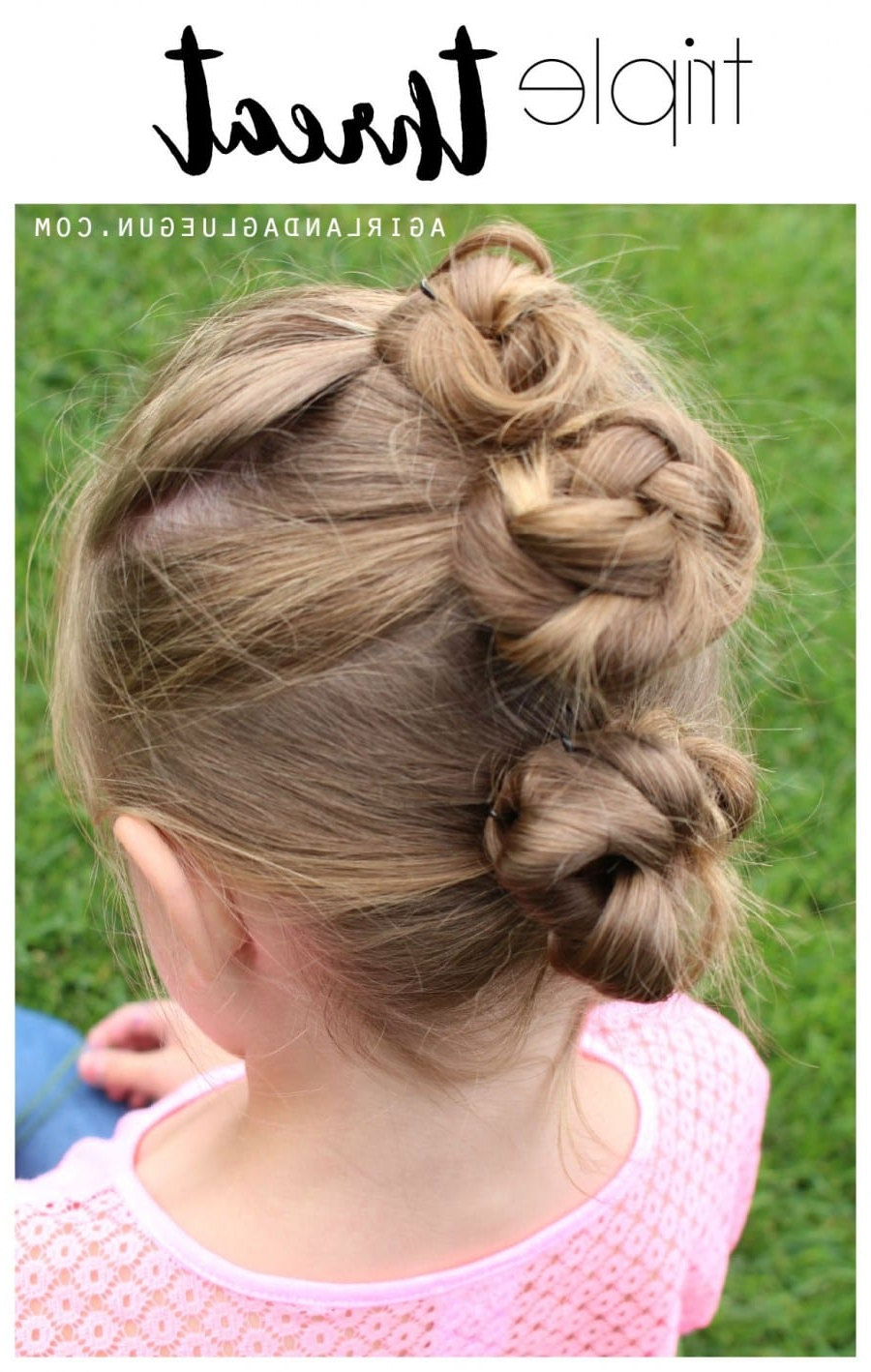25 Girl Hair Styles For Toddlers And Tweens – A Girl And A Inside Well Known Triple Under Braid Hairstyles With A Bun (View 14 of 20)