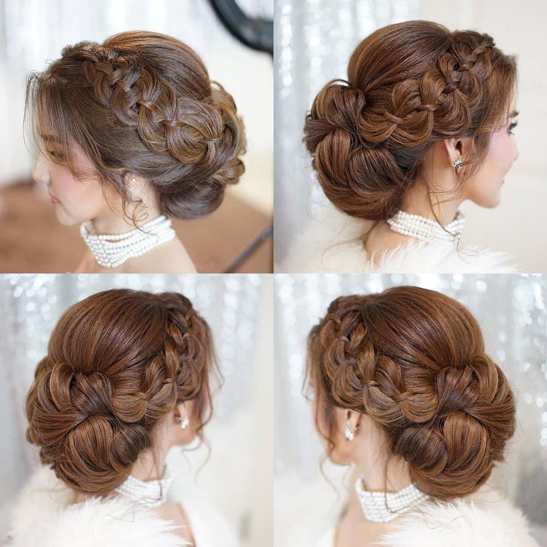 25 Updo Wedding Hairstyles For Long Hair, We Love An With Regard To Best And Newest Ethereal Updo Hairstyles With Headband (View 6 of 20)