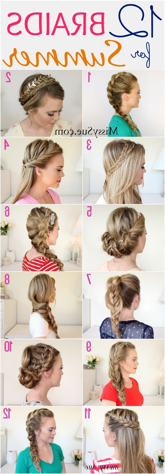26 Pretty Braided Hairstyle For Summer – Popular Haircuts Intended For Latest Thick And Luscious Braid Hairstyles (View 13 of 20)