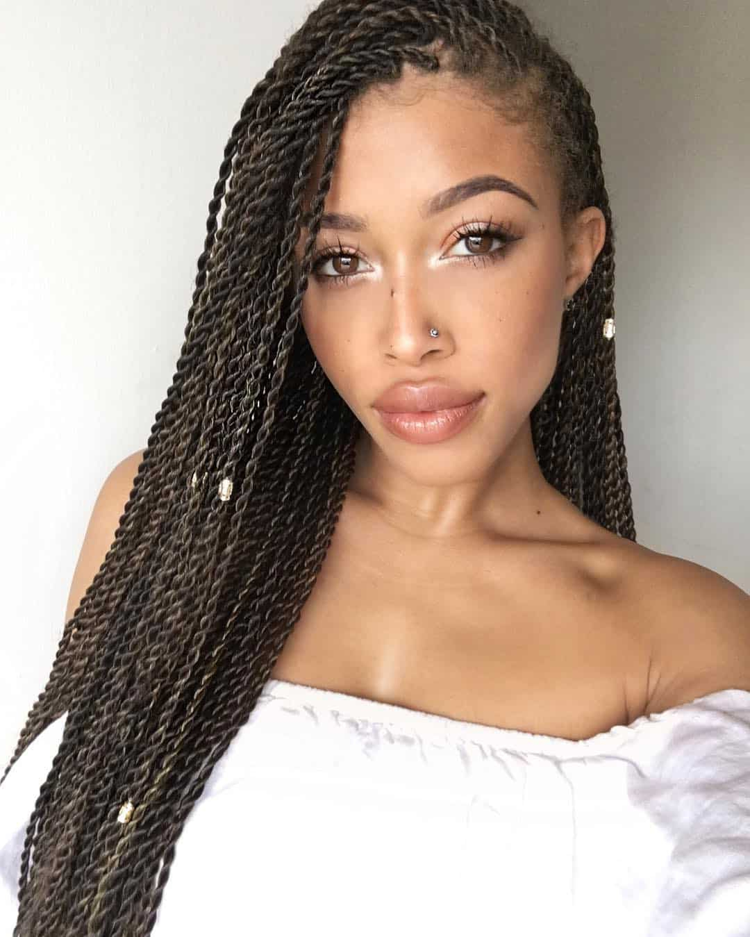 29 Magnificent Micro Braid Hairstyles For The Next Season In Well Known Black Twists Micro Braids With Golden Highlights (View 4 of 20)