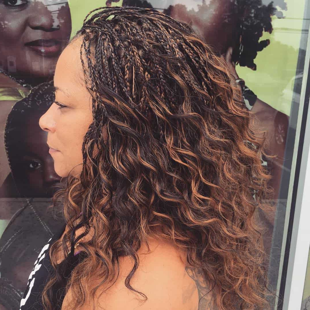 29 Magnificent Micro Braid Hairstyles For The Next Season Within Well Known Individual Micro Braids With Curly Ends (View 2 of 20)