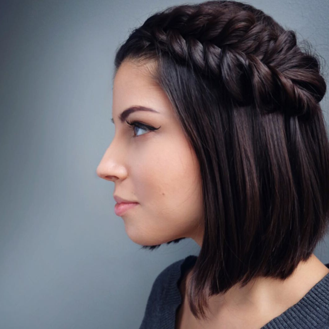 29 Swanky Braided Hairstyles To Do On Short Hair – Wild Inside Favorite Bob Braid Hairstyles With Bangs (View 14 of 20)