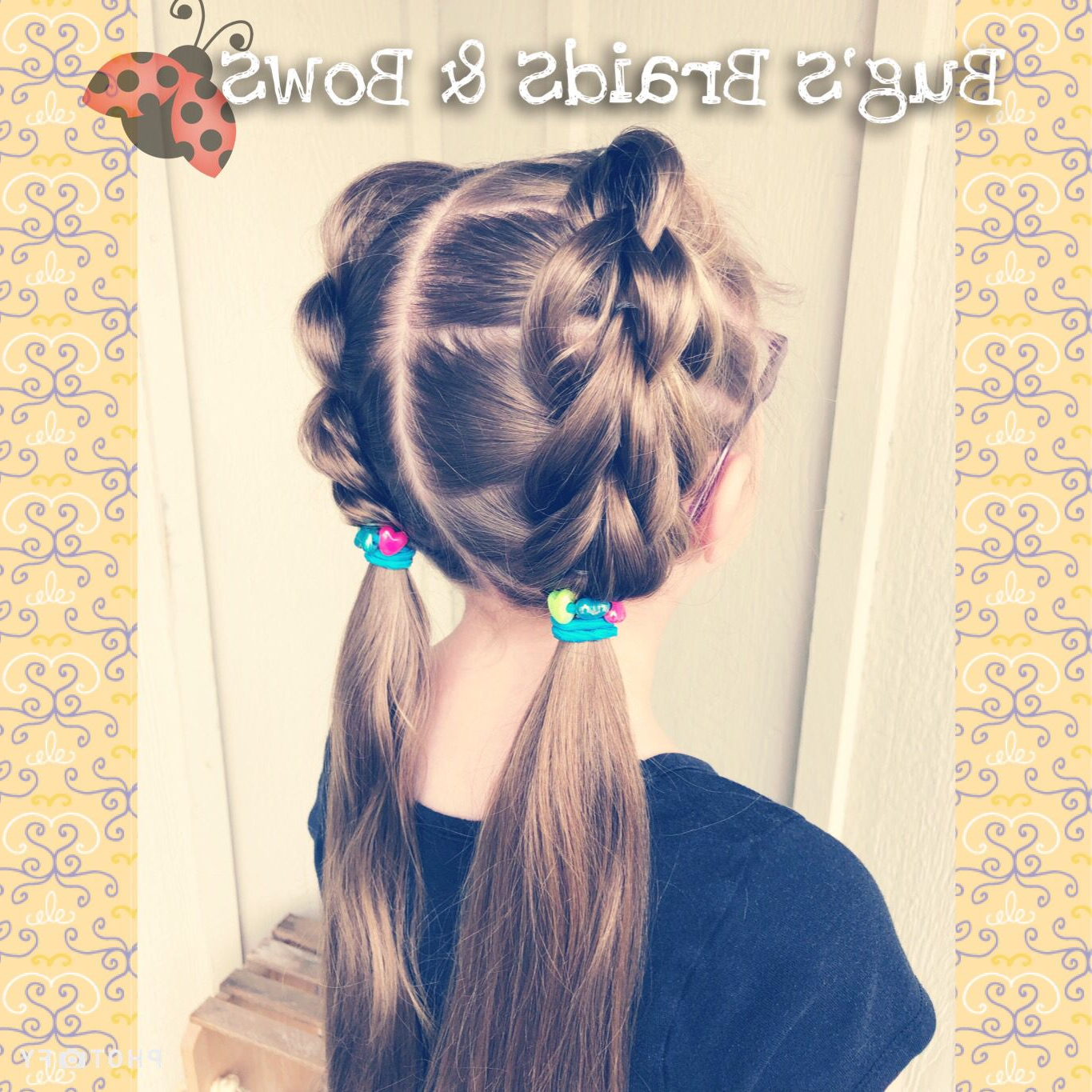 3 Strand Pull Through Braided Pigtails For Our First Day Regarding Famous Three Strand Pigtails Braided Hairstyles (View 1 of 20)