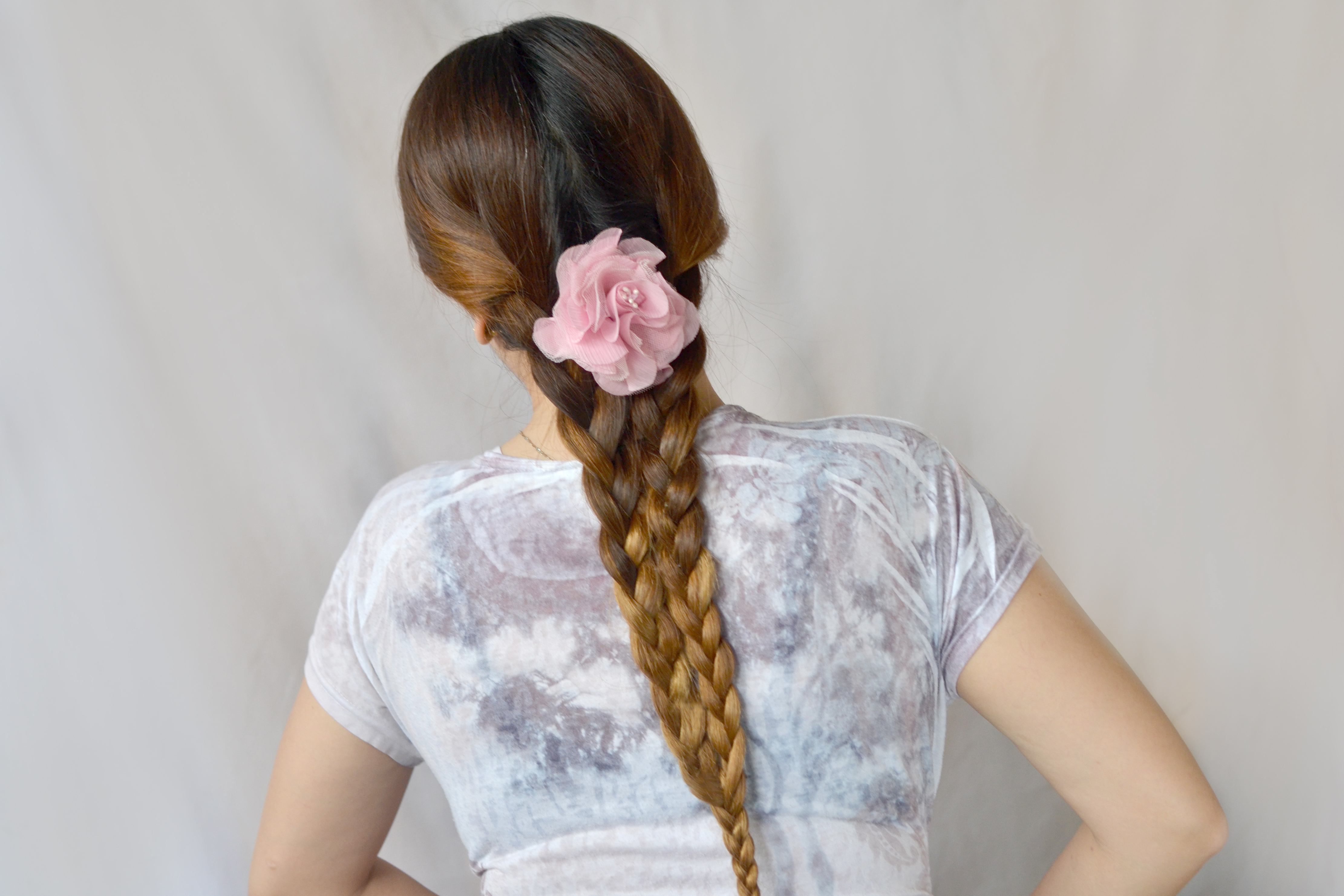 3 Ways To Make A Mermaid Tail Side Braid – Wikihow With Most Up To Date Waterfall Mermaid Braid Hairstyles (View 4 of 20)
