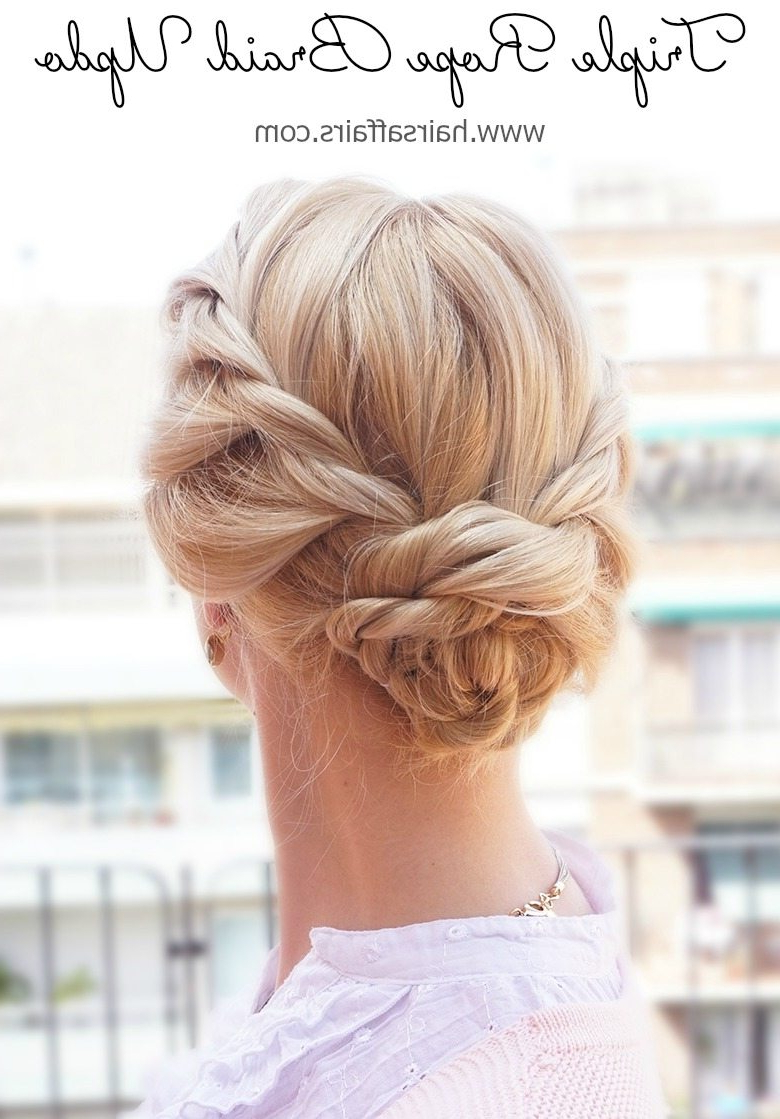 30+ Beautiful Braids For Short Hair – Day 9 – Triple Rope For Famous Rope And Fishtail Braid Hairstyles (View 18 of 20)