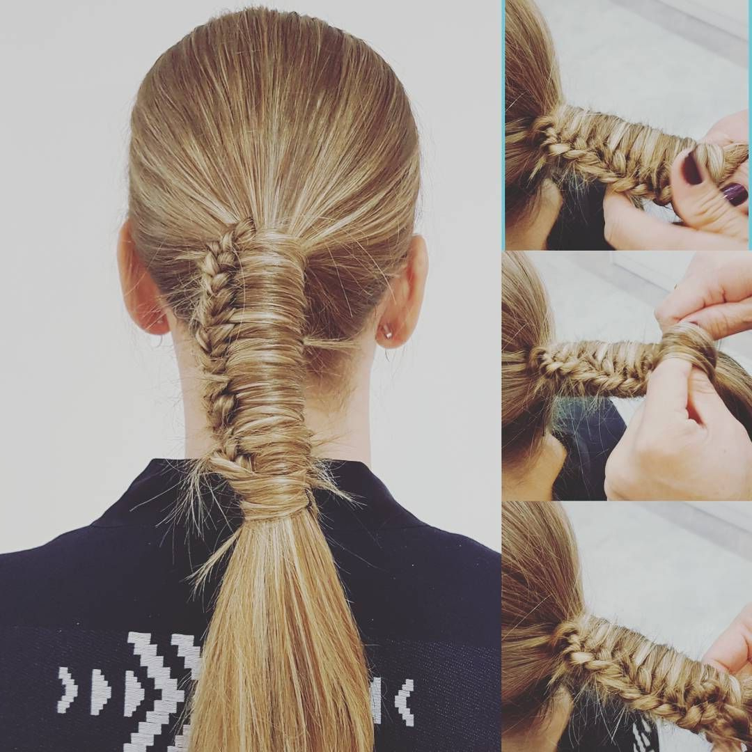 30 Rope Braid Hairstyles Looking Both Casual And Fancy In Best And Newest Wrapped Ponytail Braid Hairstyles (Gallery 20 of 20)