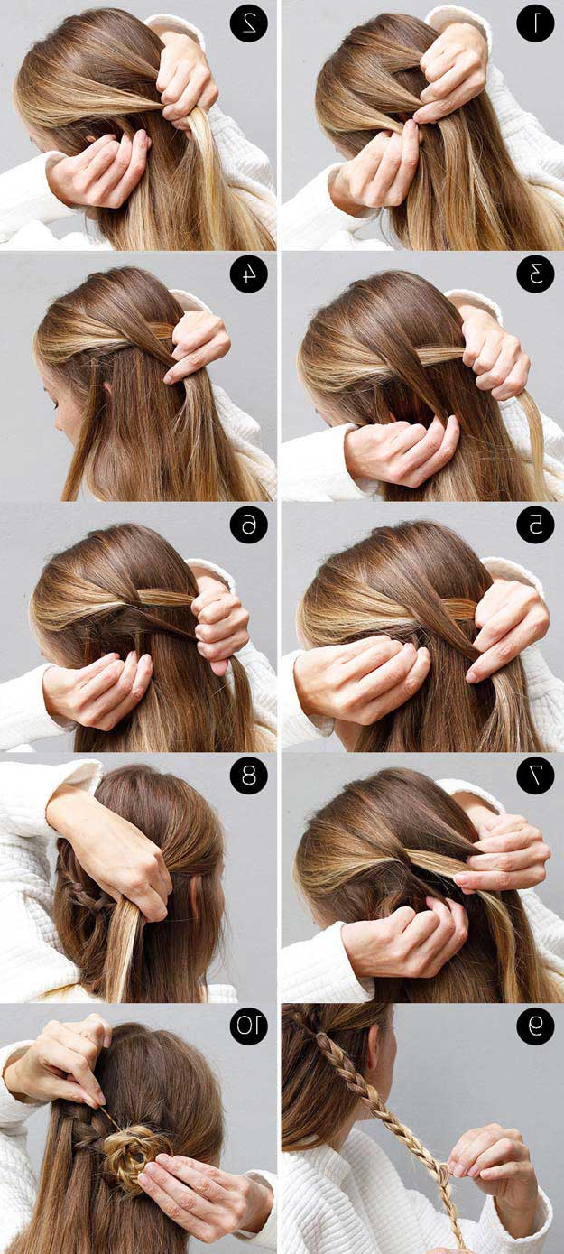 31 Amazing Half Up Half Down Hairstyles For Long Hair – The In Most Popular Simple Half Bun Hairstyles (View 18 of 20)