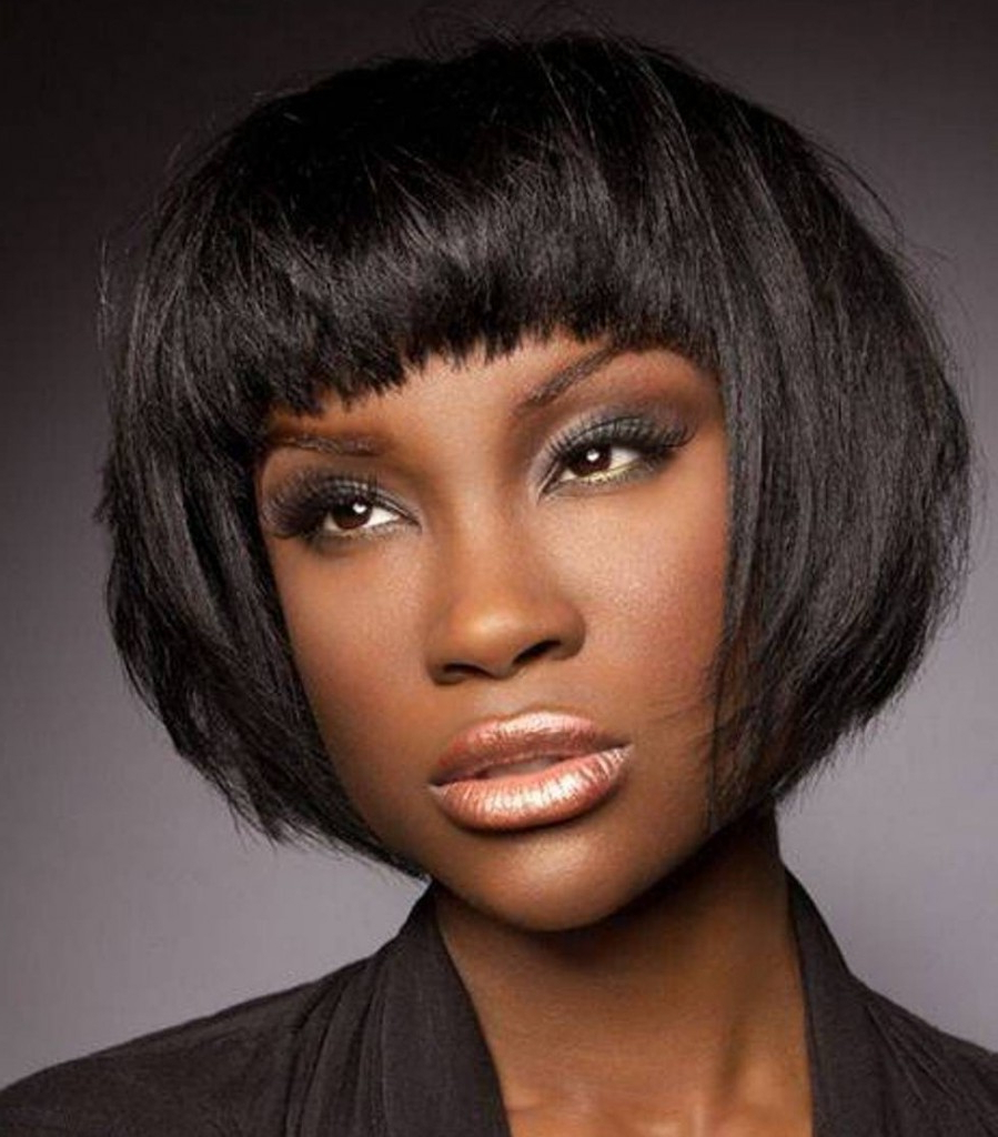 34 African American Short Hairstyles For Black Women Inside Fashionable Gold Toned Skull Cap Braided Hairstyles (View 11 of 20)