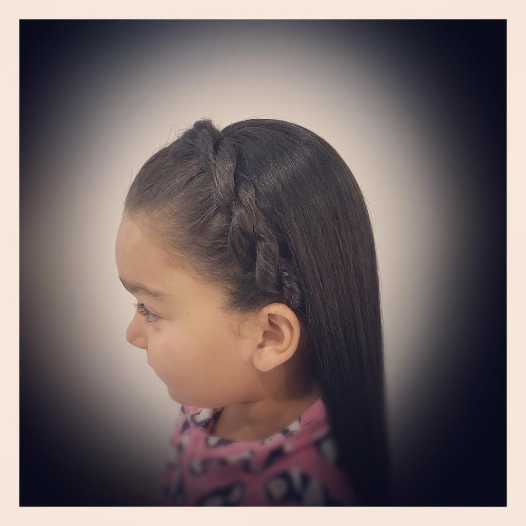 34 Totally Cute Braided Hairstyles For Little Girls – Page 3 Regarding Favorite Tight Braided Hairstyles With Headband (View 2 of 20)