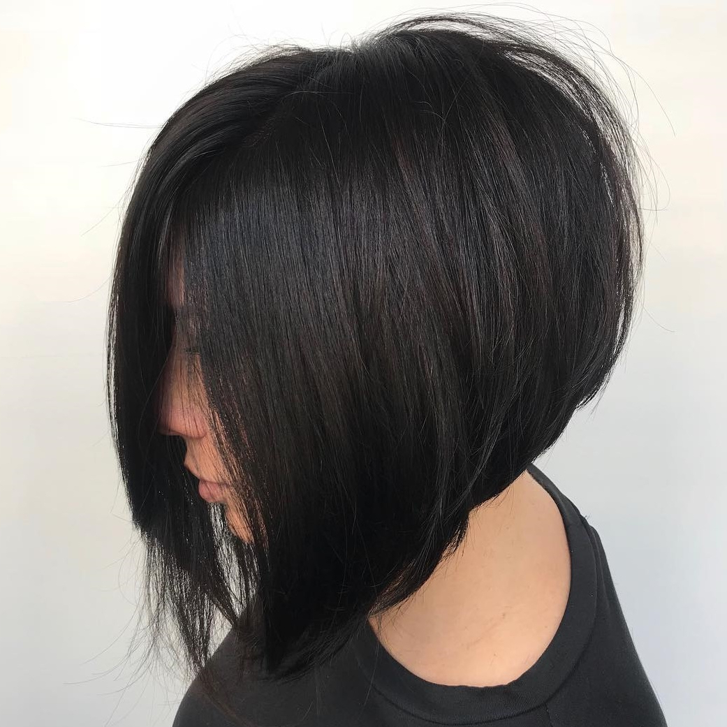 35 Cute Short Bob Haircuts Everyone Will Be Obsessed With In Throughout Most Popular Stacked And Angled Bob Braid Hairstyles (Gallery 19 of 20)