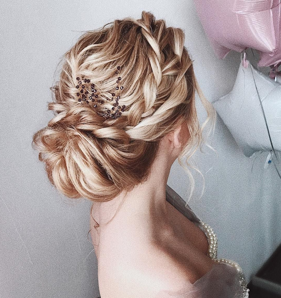 35 Gorgeous Updo Wedding Hairstyle Inspiration , Braids Inside Well Known Vintage Inspired Braided Updo Hairstyles (Gallery 2 of 20)