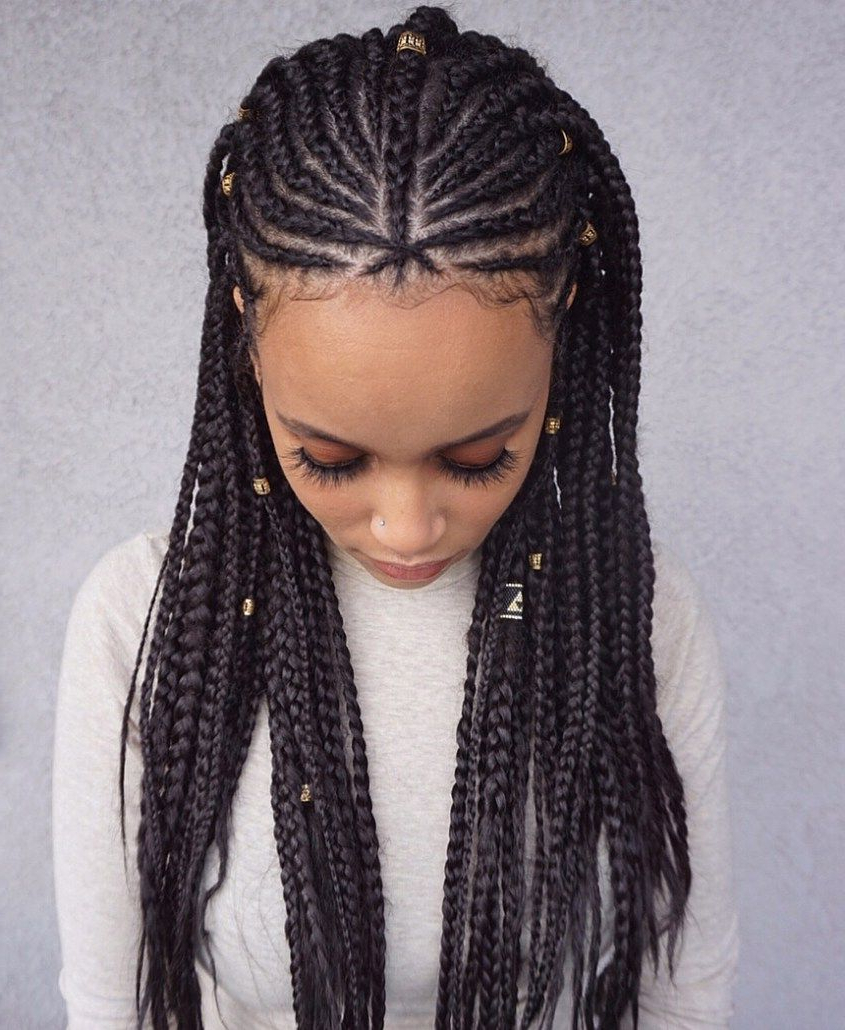 35 Lemonade Braids Styles For Elegant Protective Styling Pertaining To Most Up To Date Thin Lemonade Braided Hairstyles In An Updo (View 8 of 20)