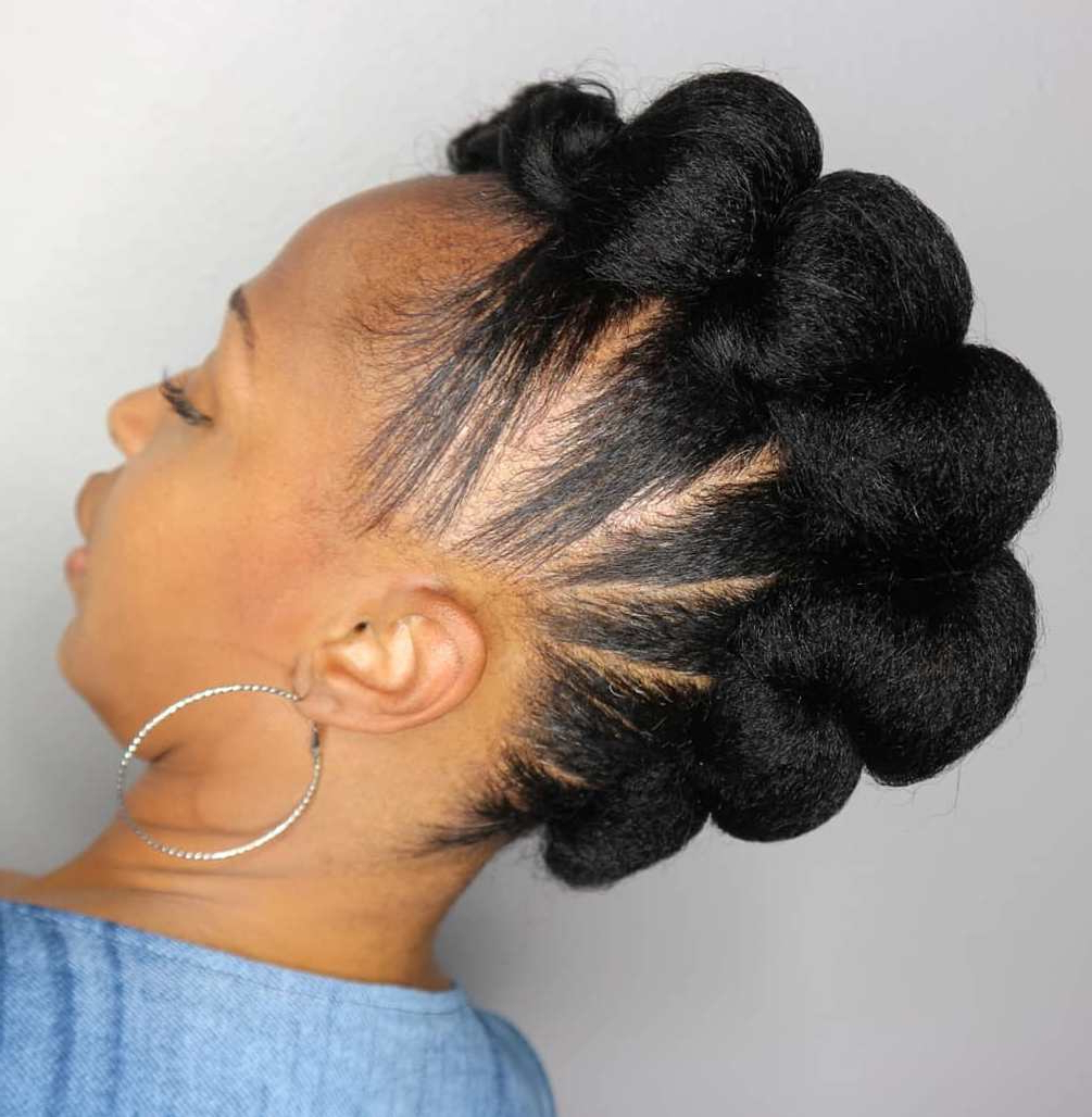 35 Protective Hairstyles For Natural Hair Captured On Instagram With Famous Twisted Faux Hawk Updo Hairstyles (View 2 of 20)